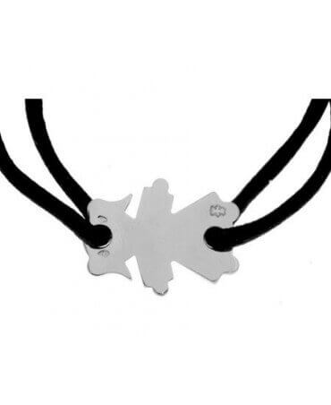 Loupidou : bracelet cordon petite fille (argent)