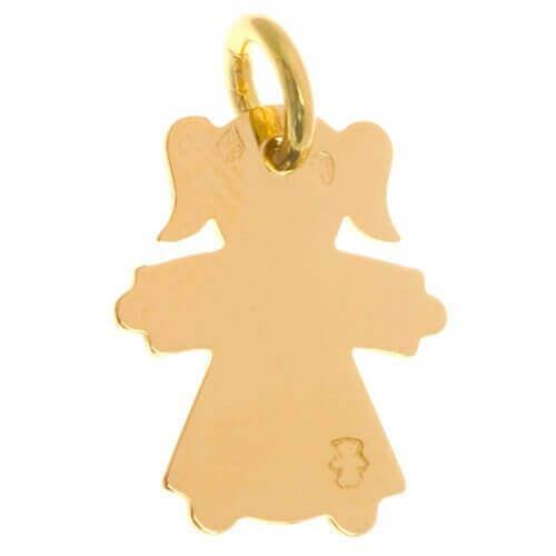 Loupidou : médaille enfant - fille ou garçon (or jaune)