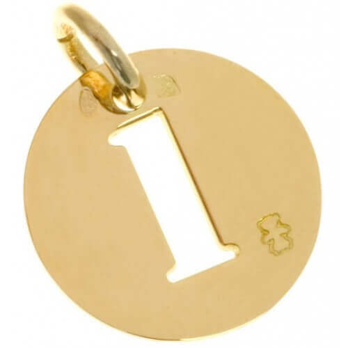 Loupidou : médaille lucky number (or jaune)