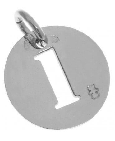Loupidou : médaille lucky number (or blanc)