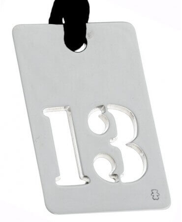 Loupidou : pendentif lucky number (argent)