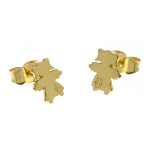 Loupidou : boucles d'oreilles fille en or (or jaune ou or blanc)