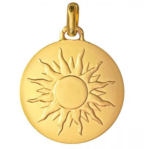 """Monnaie de Paris : médaille """"je brillerai comme un soleil"""" (or jaune)"""