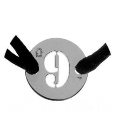 Loupidou : bracelet cordon lucky number (argent)