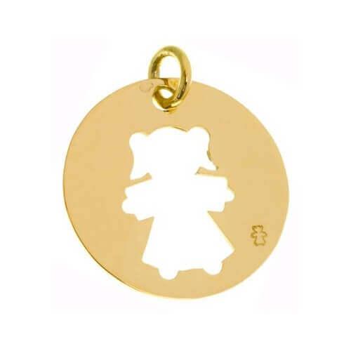 Loupidou : médaille ajourée - fille ou garçon (or jaune)