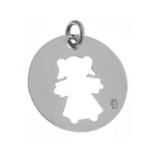 Loupidou : médaille ajourée - fille ou garçon (argent)