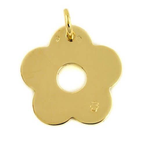 Loupidou : pendentif fleur (or jaune)