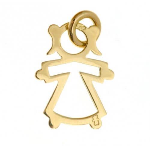 Loupidou : pendentif silhouette ajourée (or jaune)