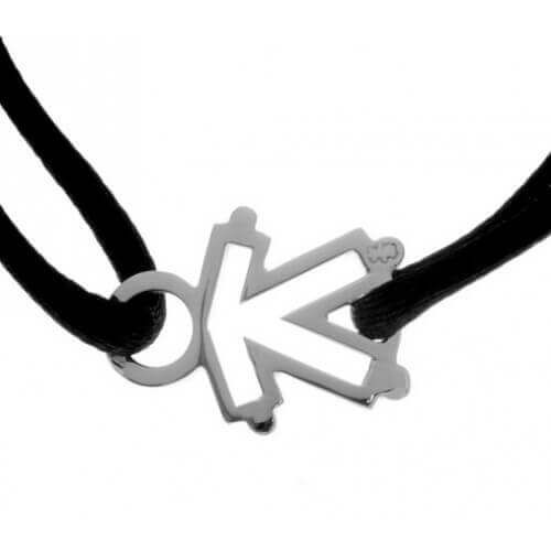Loupidou : bracelet cordon squelette (fille ou garçon) (argent)