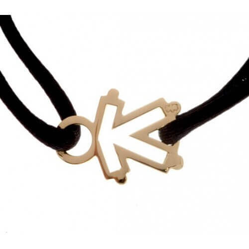 Loupidou : bracelet cordon squelette (fille ou garçon) (or jaune)