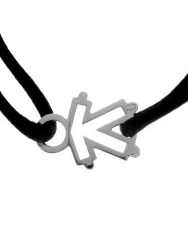 Loupidou : bracelet cordon squelette (fille ou garçon) (or blanc)