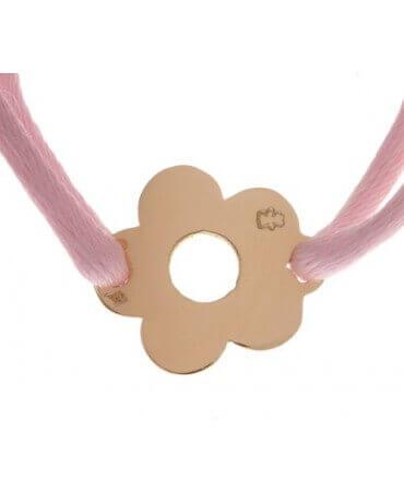 Loupidou : bracelet cordon fleur (or jaune)