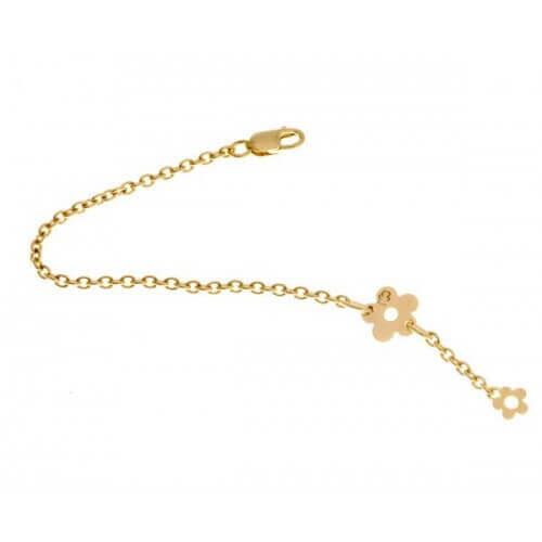 Loupidou : bracelet bébé fleur (or jaune)