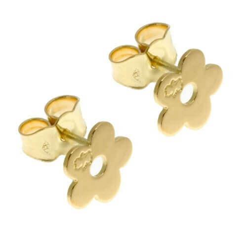 Loupidou : boucles d'oreilles fleur (or jaune)