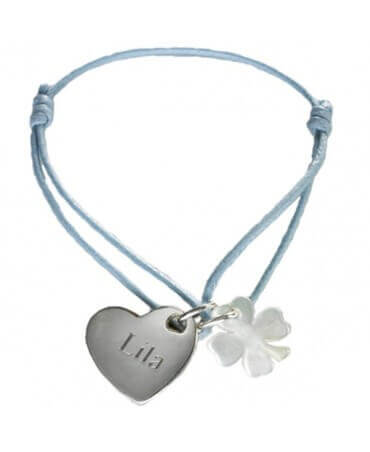 Petits Trésors : bracelet Kids cœur de trèfle (argent)
