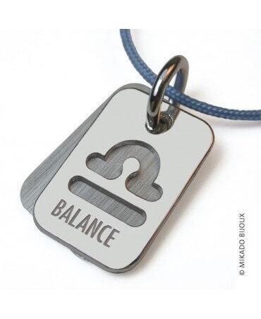 Mikado : pendentif ASTRO signe Balance (argent)