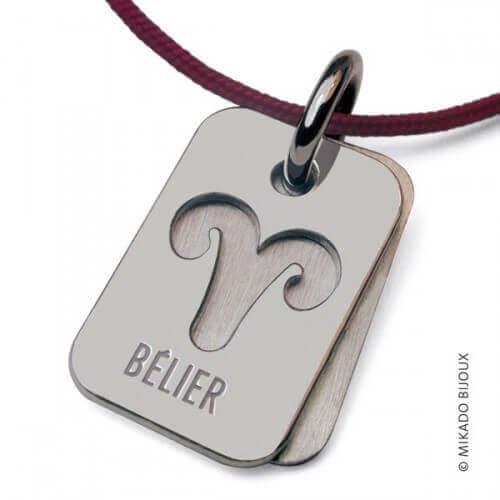 Mikado : pendentif ASTRO signe Bélier (argent)