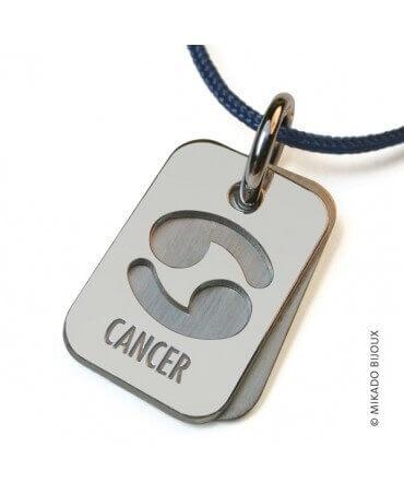 Mikado : pendentif ASTRO signe Cancer (argent)