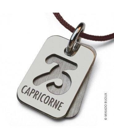 Mikado : pendentif ASTRO signe Capricorne (argent)