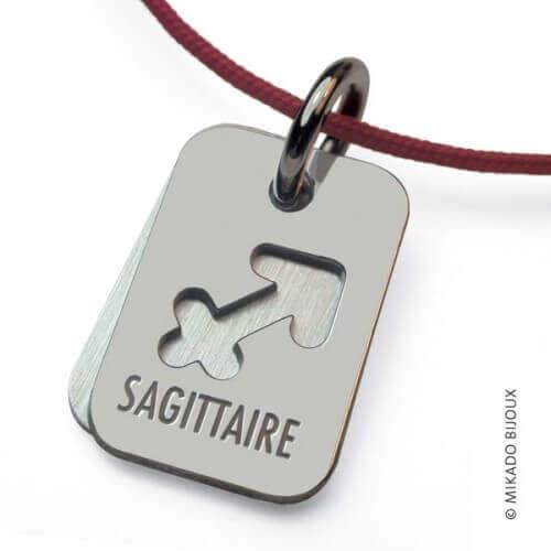 Mikado : pendentif ASTRO signe Sagittaire (argent)