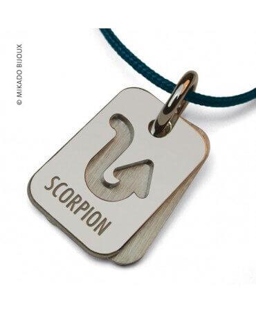 Mikado : pendentif ASTRO signe Scorpion (argent)