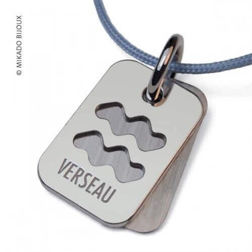 Mikado : pendentif ASTRO signe Verseau (argent)