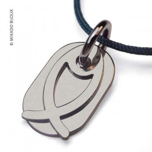 Mikado : pendentif Ichthys Poisson (argent)