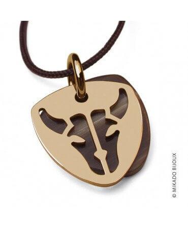 Mikado : pendentif Buffalo (or jaune)