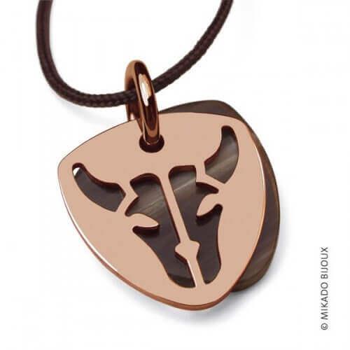 Mikado : pendentif Buffalo (or rose)