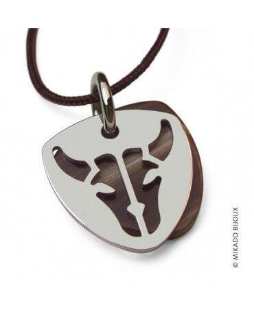 Mikado : pendentif Buffalo (or blanc)