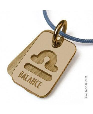 Mikado : pendentif ASTRO signe Balance (or jaune)