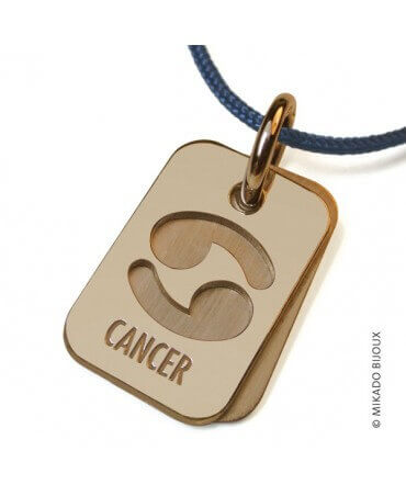 Mikado : pendentif ASTRO signe Cancer (or jaune)