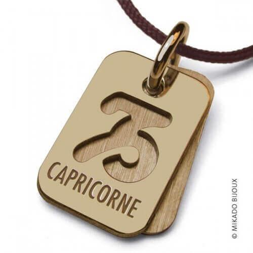 Mikado : pendentif ASTRO signe Capricorne (or jaune)