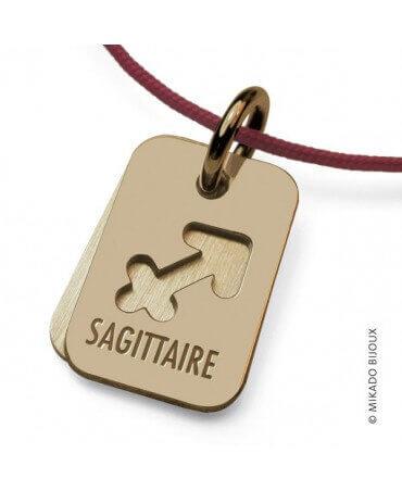 Mikado : pendentif ASTRO signe Sagittaire (or jaune)