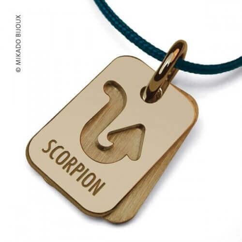 Mikado : pendentif ASTRO signe Scorpion (or jaune)