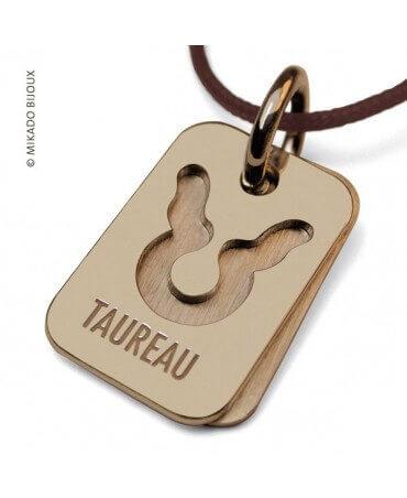 Mikado : pendentif signe taureau (or jaune)