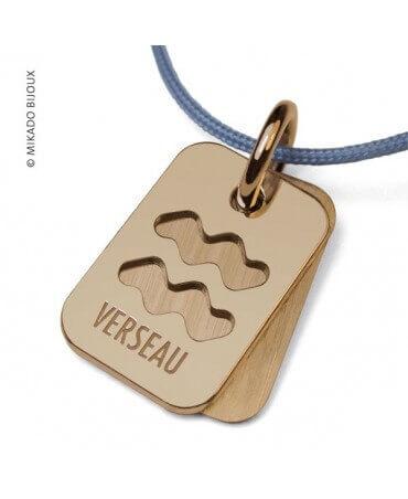 Mikado : pendentif ASTRO signe Verseau (or jaune)