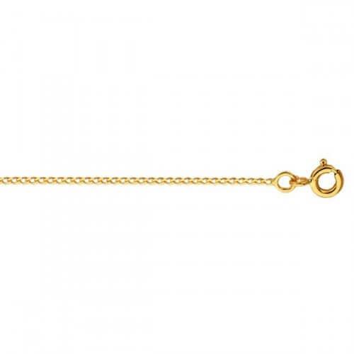 Chaîne gourmette claire diamantée (or jaune)