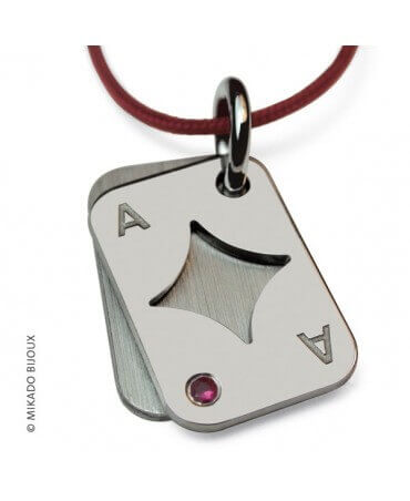 Mikado : pendentif Poker (Argent)