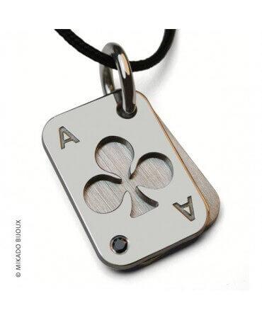 Mikado : pendentif Poker (Or Blanc)