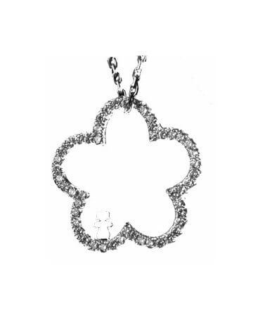 Loupidou : collier fleur (or et diamants)