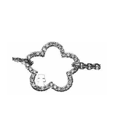 Loupidou : bracelet fleur (or et diamants)