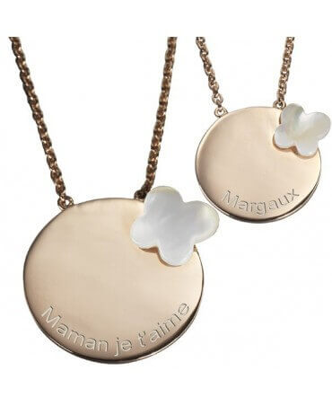 Petits Trésors : pendentif Duo Butterfly (plaqué or)