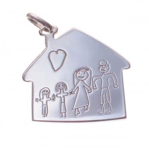 Rosset Gaulejac : pendentif maison à personnaliser