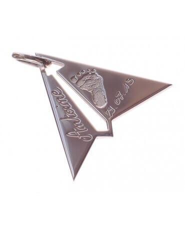 Les Empreintes : pendentif avion à personnaliser