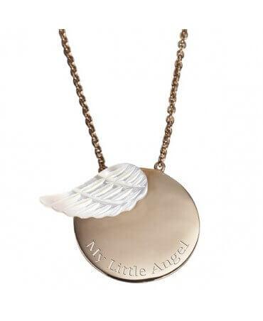 Petits Trésors : pendentif Femme Aile d'ange (plaqué or)