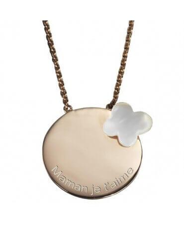 Petits Trésors : pendentif Femme Papillon (plaqué or)