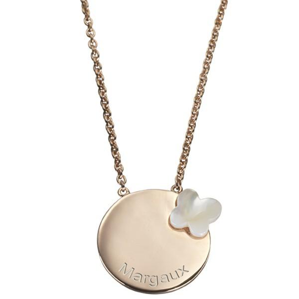 Fabuleux Pendentif enfant (plaqué or) papillon - Petits Trésors bijoux à graver PE39