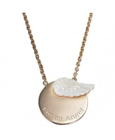 Petits Trésors : pendentif enfant Aile d'ange (plaqué or)