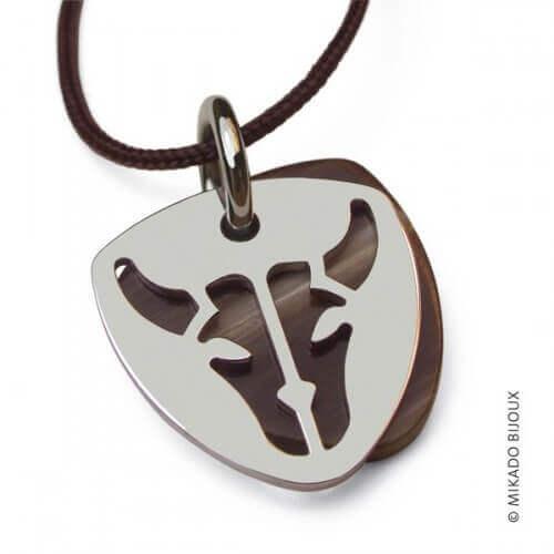 Mikado : pendentif Buffalo (argent)